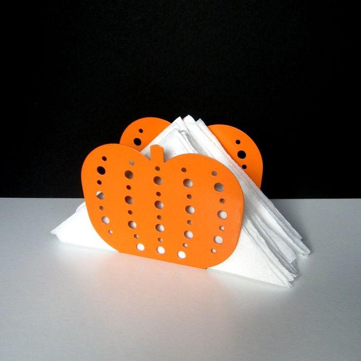 Vintage Napkin Holder – Pumpkin Napkin Holder – Metal Napkin Holder, Autumn décor, Halloween décor, Orange pumpkin, Tableware, Kitchen