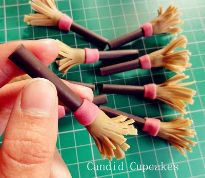 My Candid Journal: Halloween Witch Broomstick fondant tutorial