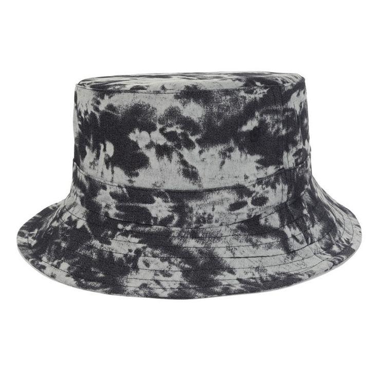 Men Women Black Bucket Hat Tie Dye Paint Cap Fishing Outdoor Fisherman Sunbonnet #Goldtop #Bucket