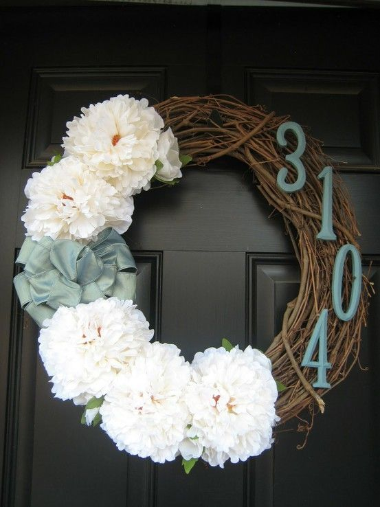 Really like the house numbers idea. Think some yellow ones on a homemade wreath would be cute on my red front door.
