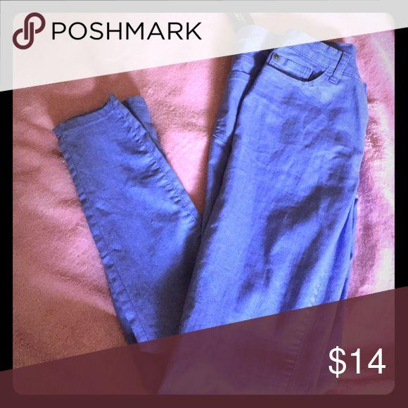 Denim violet pants Size 28 Forever 21 Pants Skinny