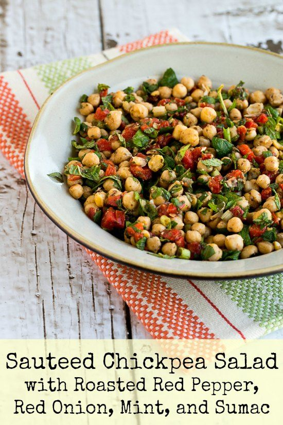in this super-easy Sauteed Chickpea Salad with Roasted Red Peppers ...