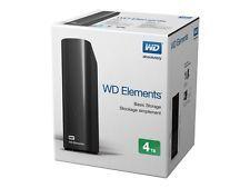 "Western Digital WD Element 4TB USB 3.0 3.5"" External Desktop Hard Drive HDD"