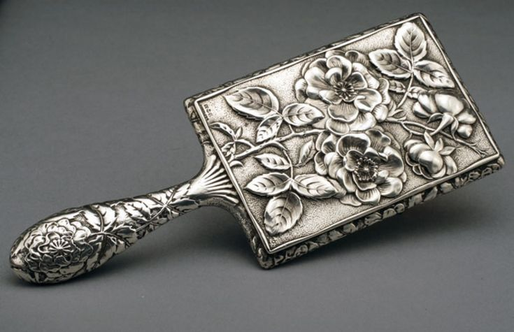 Leopard Antiques Gorham Sterling Silver Hand Mirror...beautiful