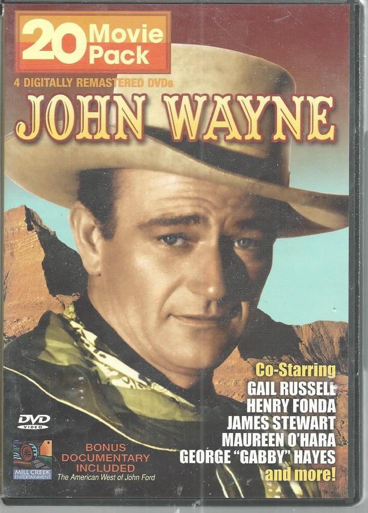 John Wayne 20 Movie Pack 4 DVD Western McLintock Angel Badman