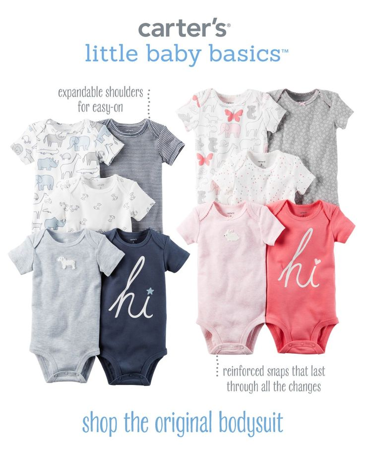 Shop all new little baby basics now! The original bodysuit is a new baby must-have up to 24 months.