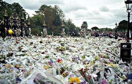 Flowers left outside Kensington Palace