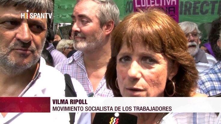 Multitudinaria protesta contra políticas de Macri en Argentina