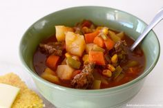 View Mom's Vegetable Beef Stew Recipe here!