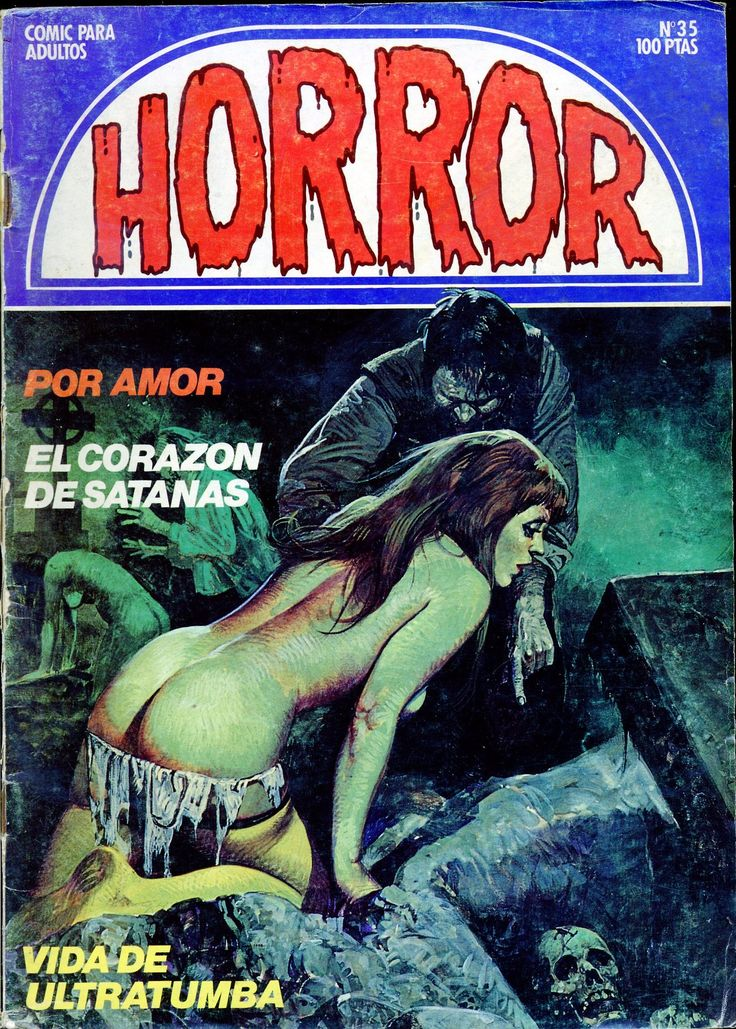 HORROR Comics Magazine #pulp #comic #cover #art