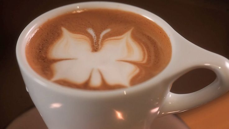 How to Etch a Butterfly | Latte Art - will have to practice for Hanna