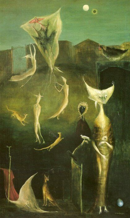 Leonora Carrington. LOL, This is so strange, there has to be some magic in this somewhere. LOL. TG