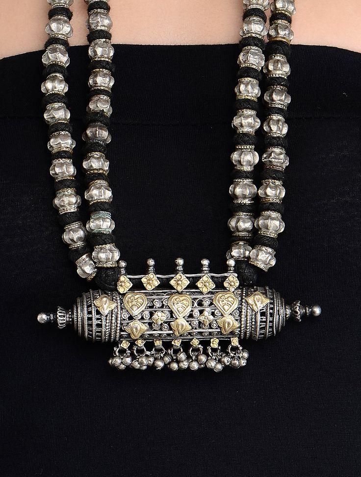 Buy Tribal Silver Necklace Online at Jaypore.com