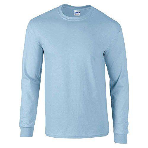 GILDANHerren T-Shirt, Blau - Light Blue, XL - 46/48'