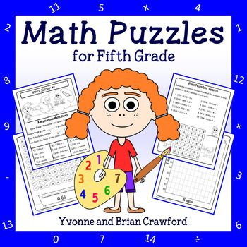 Math Puzzles - 5th Grade Common Core 28% off - use code - LOVETPT (2/7 and 2/8)