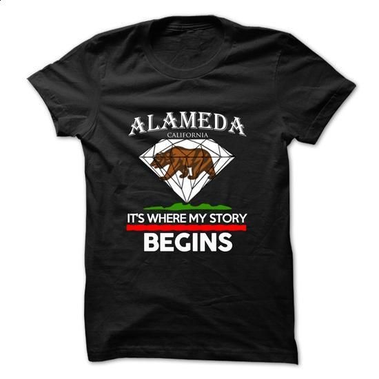 Alameda - California - Its Where My Story Begins ! - #gift for him #zip up…