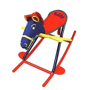 hoohobbers rocking horse is easy for kids to ride, and folds for ...