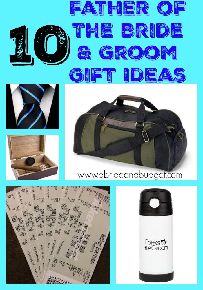 Dads can be hard to shop for, especially when you're looking for a father of the bride and groom gift idea.  Don't worry. We've got you covered. Check out the top ten list at www.abrideonabudget.com.