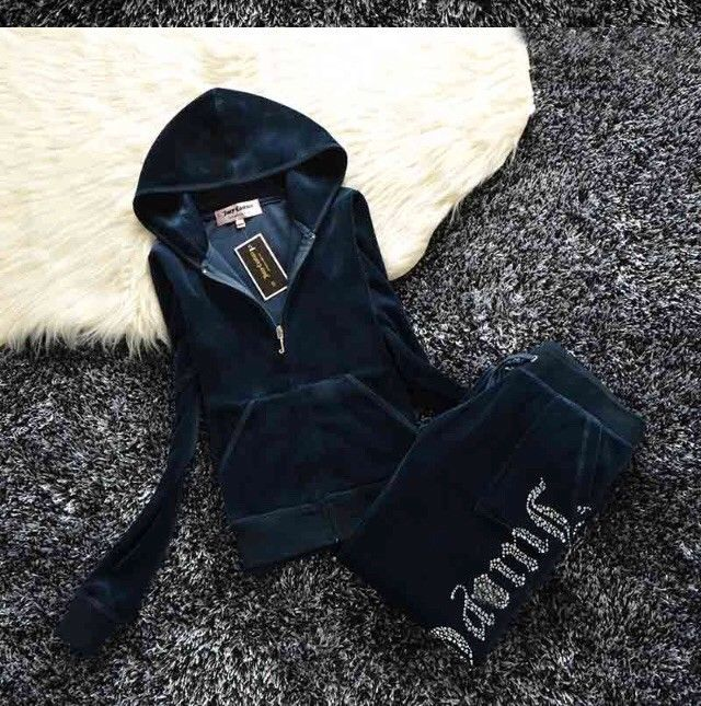Royal Blue Women's-Juicy-Couture-Size M-Velour-Sweatsuit-Tracksuit-USA Seller #JuicyCouture #TrackSweatSuits