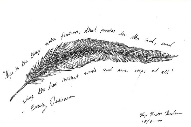 emily's words~~inspiration for ART  ''Hope is the t thing with feathers''... art by LLY
