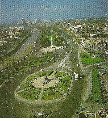 Plaza Italia en 1987, cuando todavía no llegábamos.