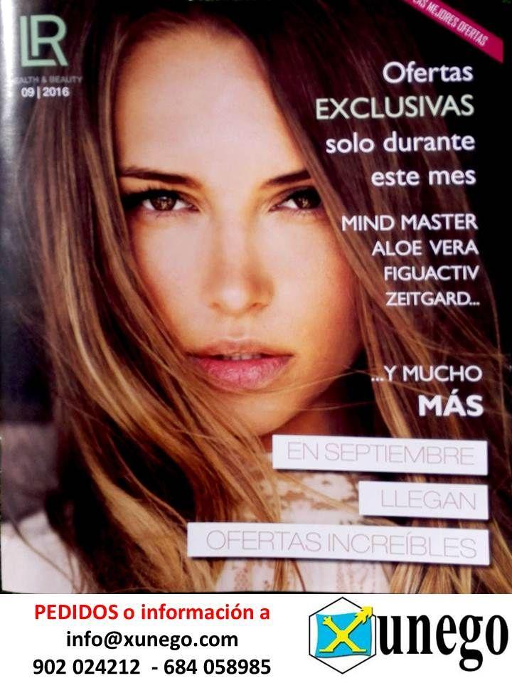 La portada del catálogo de LR Health & Beauty, correspondiente al mes de setiembre de 2016.