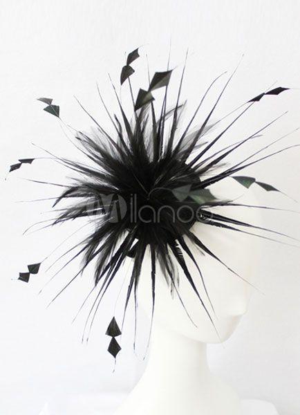 Tocado con pluma de moda