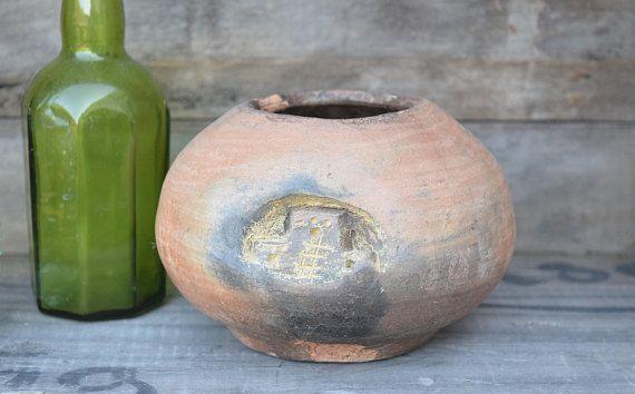 Pit Fired Pottery Pit Fire Pot Primitive Pot Unglazed
