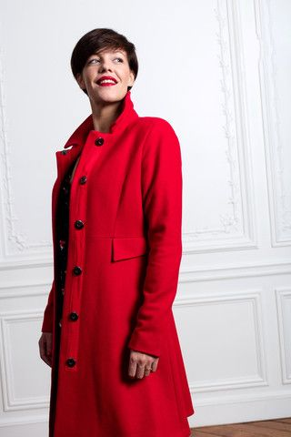 Manteau Maurice Rouge