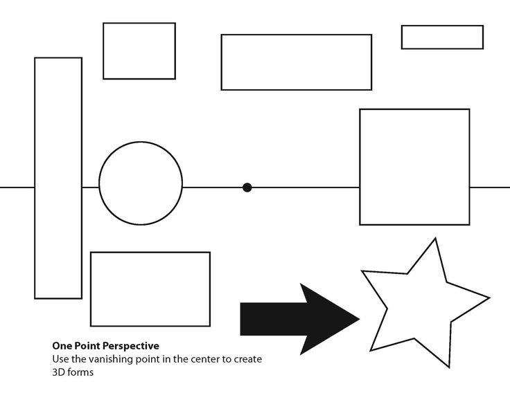 one=point perspective worksheets | One point perspective