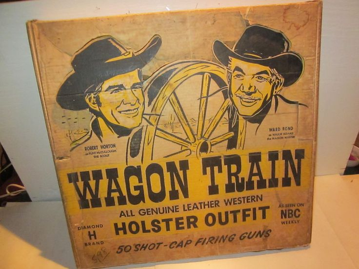 Vintage 1950s rare l henry quot wagon train quot leather holster outfit quot w