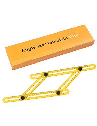 CharaVector Angleizer Template Tool, Multi-Angle Measuring Ruler Measures All Angles and Forms - The Angle-izer is the perfect tool to make bulls eyes, arches and plumb cuts on roof joists.Whether you're a professional builder, craftsman, weekend warrior or DIYer, the Angle-izer template tool is an essential tool for any toolbox! Features ♡100% brand new and high quality ♡Easy ...