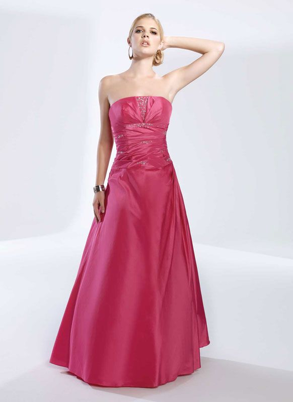A-line strapless neck gorgeous taffeta with  home coming dress