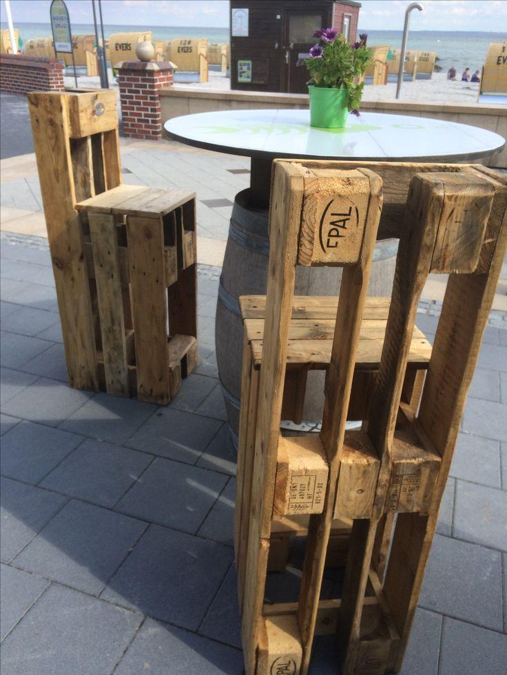 Paletten hocker outdoor pinterest paletten hocker - Mobel aus recyclingholz ...