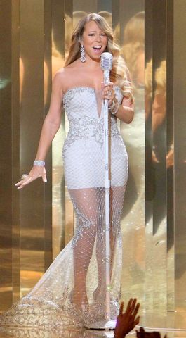 MARIAH CAREY wears a MIKAEL D to the 2013 BET Awards