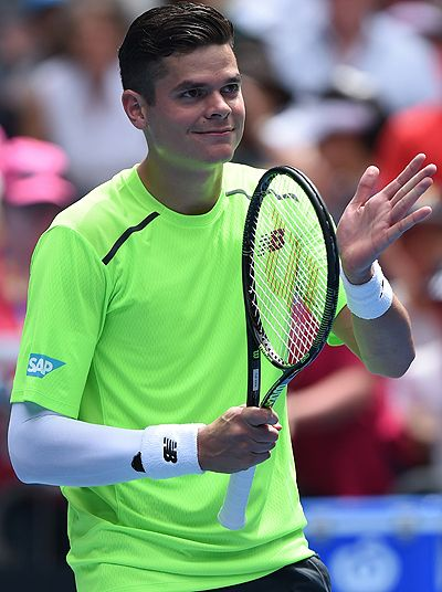 Milos Raonic, looking like a member of the Barcelona B squad, proves that it is possible to play Grand Slam tennis without dislodging a single hair on your head.