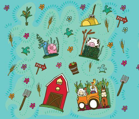 farmfarm fabric by lau_e on Spoonflower - custom fabric