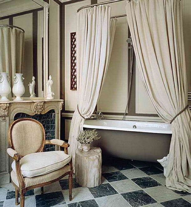 Curtains Ideas clawfoot tub curtain : 17 Best ideas about Clawfoot Tub Shower on Pinterest | Clawfoot ...