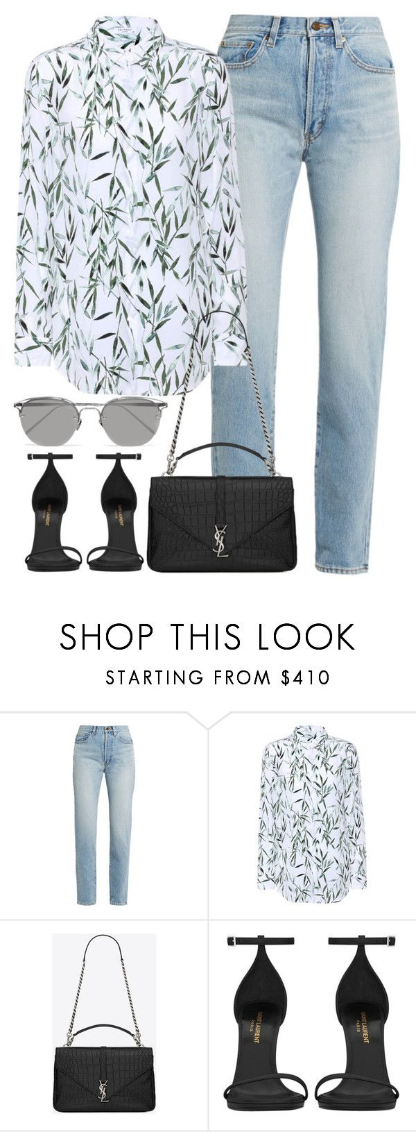 """""""Untitled #3060"""" by elenaday on Polyvore featuring Yves Saint Laurent, Equipment and Linda Farrow"""
