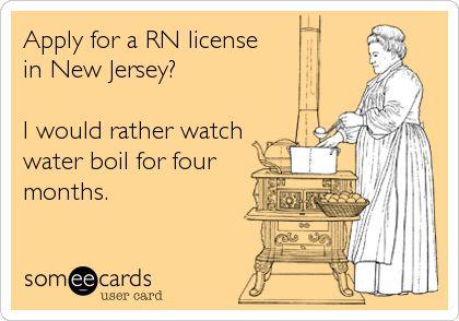 NJ RN Application Process