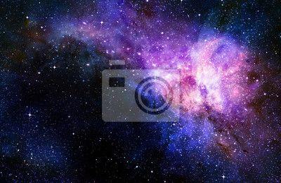 Fotobehang sterrenhemel diepe ruimte nebual en galaxy
