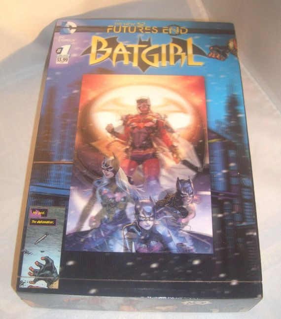 ☺• Batgirl #Hologram #Comics Recycled Wooden Cigar Box by #CurbedEarth #geekery http://etsy.me/2jdoxmr