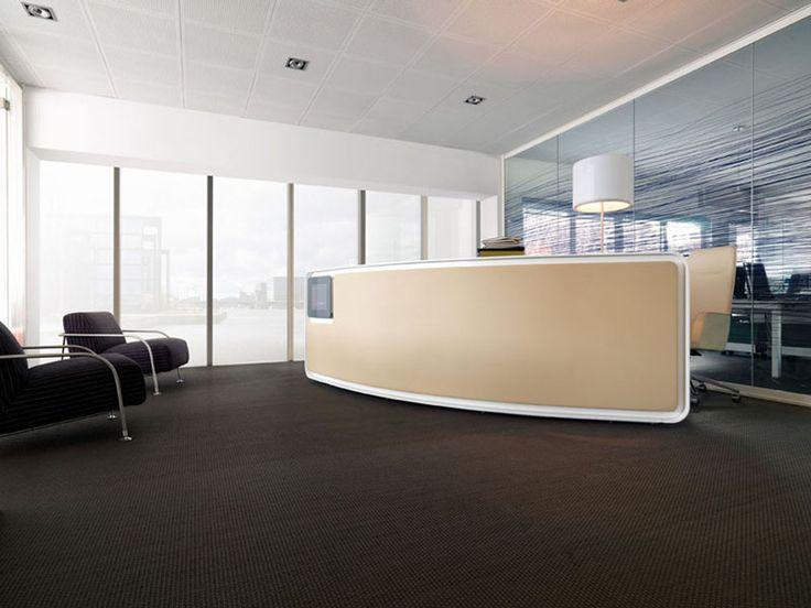 Balcão de recepção em laminado VEGA by ESTEL GROUP design John Bennet
