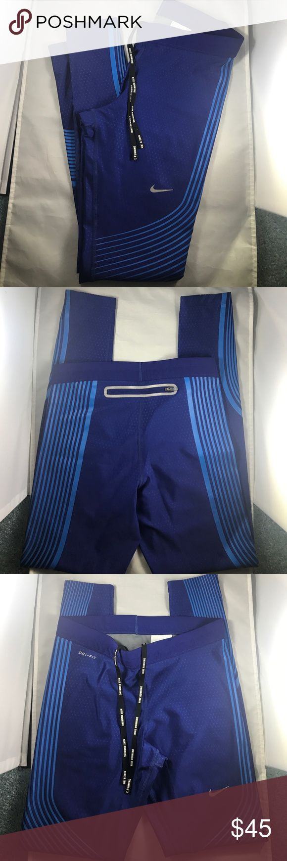 Nike Running Pants Size Small Royal blue Nike running pants with compression and zipper on the back. Size small. Only worn once. Nike Pants Track Pants & Joggers