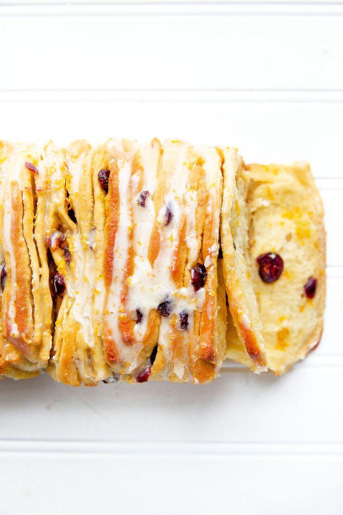 Cranberry Orange Pull Apart Bread - Broma Bakery