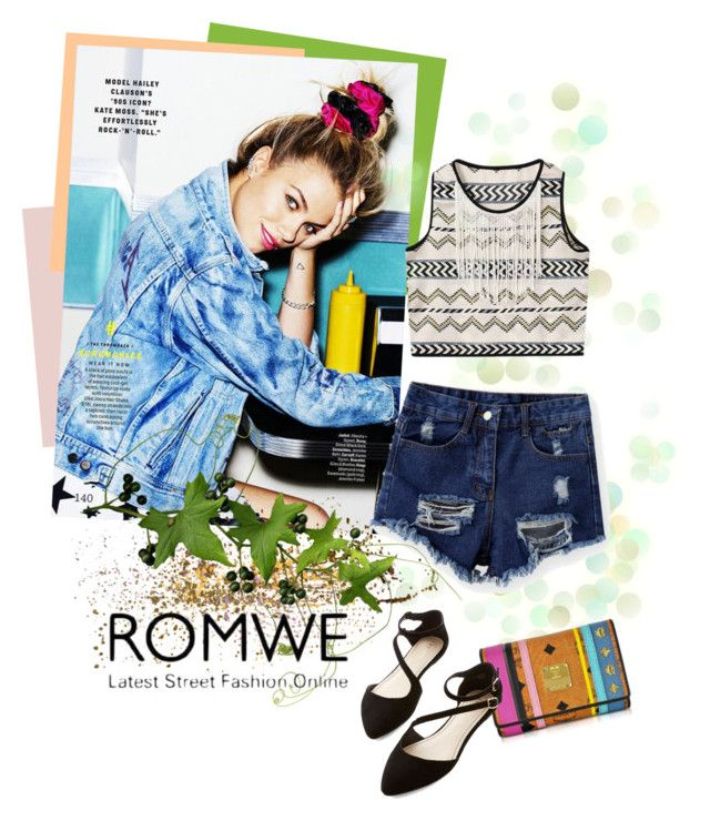 """Рваные джинсовые шорты с ROMWE!"" by miss-image ❤ liked on Polyvore featuring Chicnova Fashion and MCM"