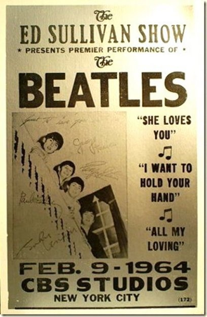 The Beatles first appearance in the U.S. -- February 9, 1964 <3 A youthful birthday of mine, and I'll always remember it!!!
