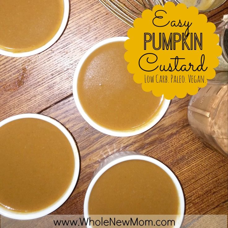 This Easy Pumpkin Custard tasted like pumpkin pie but it healthy enough to eat all year round. Great as a dessert, snack, or even breakfast!