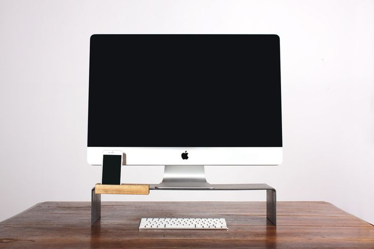 Monitor / all-in-one pc / iMac  stand, desk rise di mattiacasati su Etsy