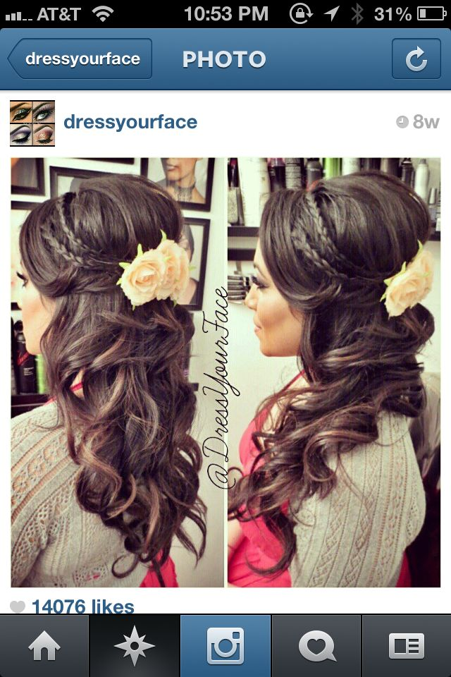 Hair for engagement party
